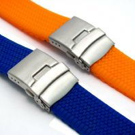 Tyre Tread Design Silicone Deployment Watch Strap Band 20mm 24mm (Style 3) C036